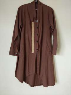 Tunik Brown List Mocca