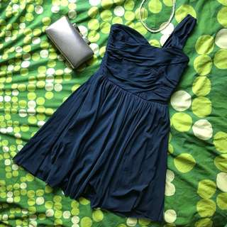 Navy Blue Cocktail Party Dress 雞尾酒會派對深藍連身裙