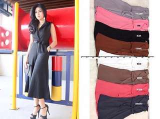 Jumpsuit weedges tebal + belt