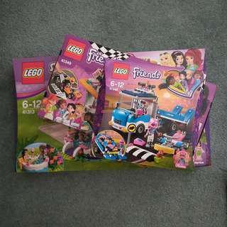 3 Sets for $50 of Lego Friends 6-12 years old