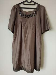 Bead Mocca Dress