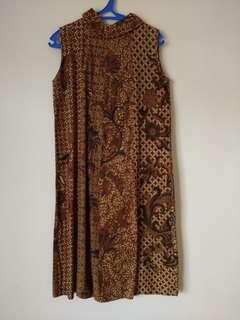 Brown Batik Dress