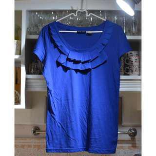 Pleated Royal Blue top