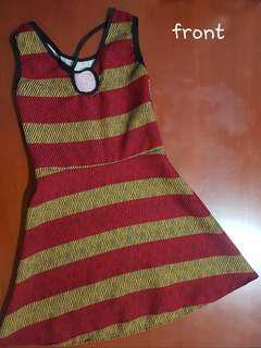 Printed Stripes Mini Dress for Ladies