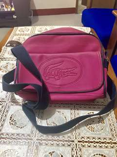 Authentic Lacoste Messenger Bag