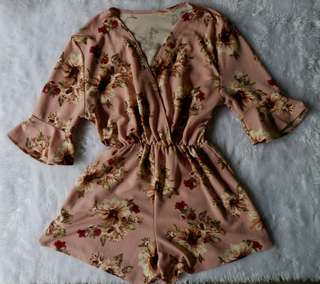 Floral Old Rose Romper
