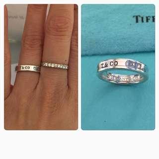 原價$1400 Tiffany 1837™純銀窄版戒指  ring