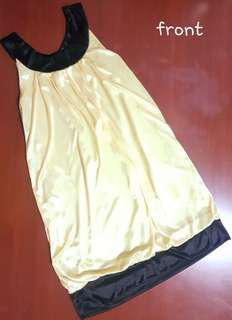 Light Yellow Silk Dress for Ladies