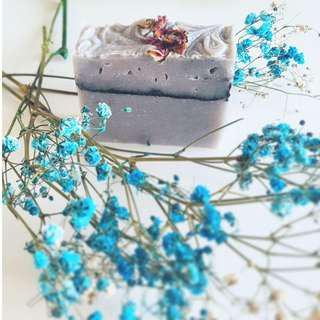 Indigo Rose (Handmade Cold-processed Soap w shea butter and much more)