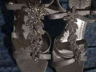 Silver Embelished Sandals
