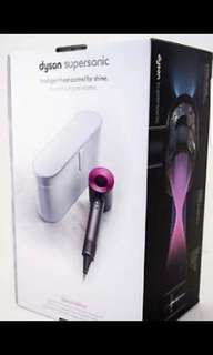 Dyson Supersonic HD01 Iron/Fuschia  (Pink) with Platinum Case. U.K specs