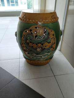 Ceramic Antique Garden Stool x 2  .  99 each
