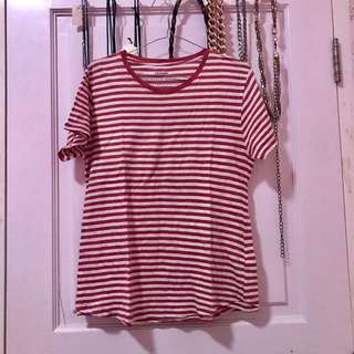 T-shirt stripes basic Cotton On / baju kaos pendek garis