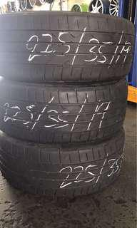 Used tayar 225/35/19 Dunlop DZ102 3pcs