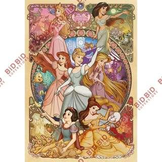Disney Princess 公主 純白 Jigsaw Puzzle 砌圖 拼圖 1000pcs 印刷華麗,不容易褪色 日本製 環保PE物料 美麗綻放的七公主 迪士尼 Snow White 白雪公主 Cinderella 灰姑娘 Aurora 愛洛公主 睡公主 Ariel 小魚仙 美女與野獸 Belle 貝兒 阿拉丁 Jasmine 茉莉公主