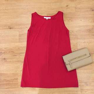 Chilli Red Shift Dress