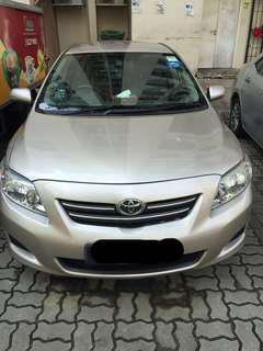 Toyota Altis for Rent [Fuel efficient]