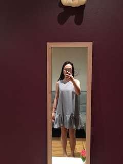 Float dress in white/blue