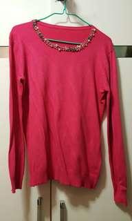 粉紅色冷衫 Sweater