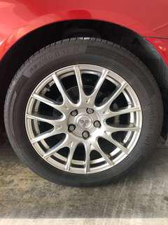 Lancer Ex Sport Rims and Tyres