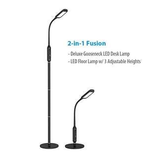 2in 1 LED Gooseneck Desk & Floor Lamp!!
