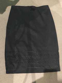 Cut out detail Pencil skirt