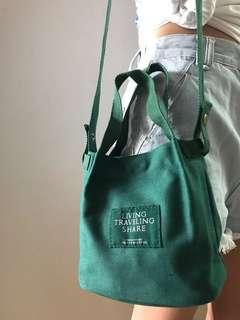 INSTOCKS Canvas Convenient Mini Sling Tote Bag korean trendy bag