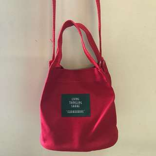 INSTOCKS Canvas Convenient Sling Tote Bag PRICE REDUCED