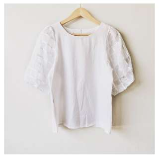 (SALE!) Puff sleeves blouse