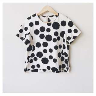 (SALE!) Polka dots textured blouse