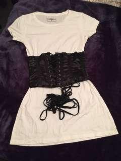 Black satin like corset
