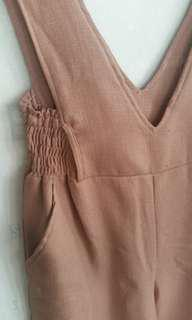 NEW !! Jumsuit korean brown