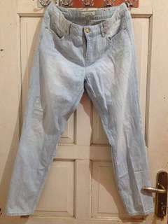 H&M blue stripe jeans