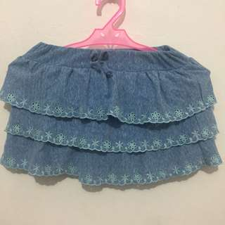Disney Layered Embroidered Skirts 3T