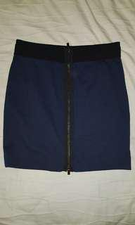 BCBG navy blue mini skirt