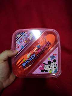 New Mickey and minnie lunch box tupperwear container