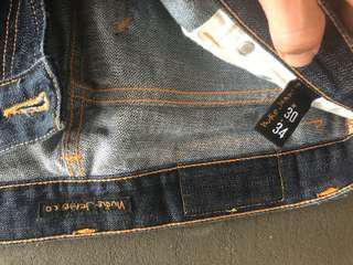 Men's Nudie Jeans sz 30 x 34 skinny guy