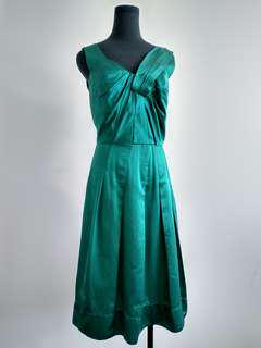 Veronika Maine green silk blend dress