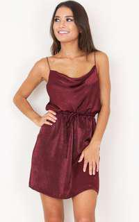 Showpo rialto dress in wine