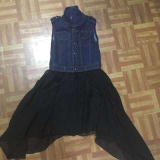 Girls denim tutu dress (7-8 years old)
