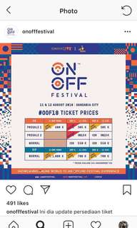 ON OFF OOF2018 TICKET 2days pass