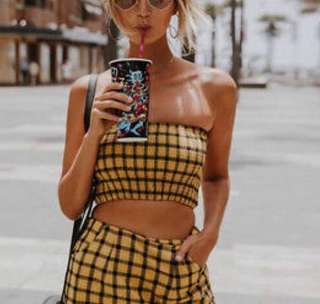 Yellow and black bandeau