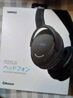 九成新 Miniso boom 重低音 藍牙 耳筒 耳機