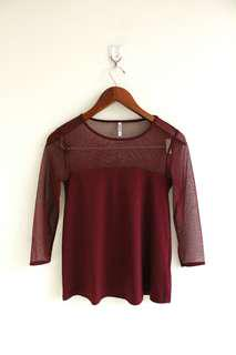 STRADIVARIUS MESH TOP