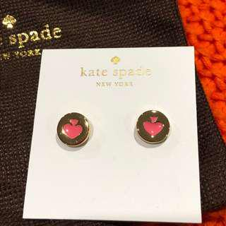 Kate Spade Gold and Pink Earrings