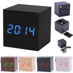 Digital Mini Cube Wooden Clock!!