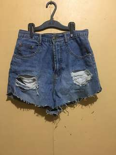 Clearance Sale!!Highwaist Tattered Shorts