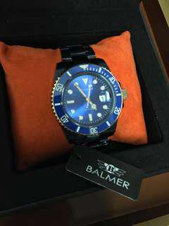 🚚 BALMER 不銹鋼錶帶 石英男錶(藍) 原價$5980