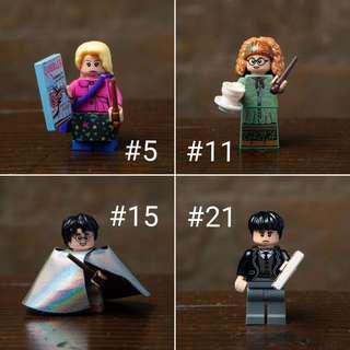 Lego Harry Potter and Fantastic Beast Minifigures 71022 - #5 Luna Lovegood #11 Professor Sybill Trelawney #15 Harry Potter Invisbility Cloak #21 Credence Barebone. (NOT LEGO CITY NINJAGO STAR WARS FRIENDS ELVES TECHNIC BRICKHEADZ MODULAR POLYBAG)