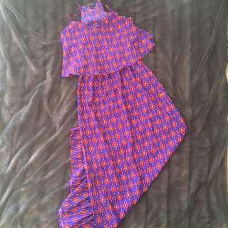 Floor Length Pattern Dress
